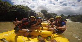 Adventure Dalat white water rafting in the rainy season