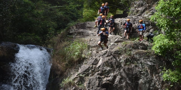 Thrilling games in Dalat: Canyoning and White Water Rafting