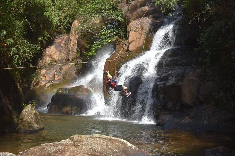 Canyoning experience on Dalanta waterfall