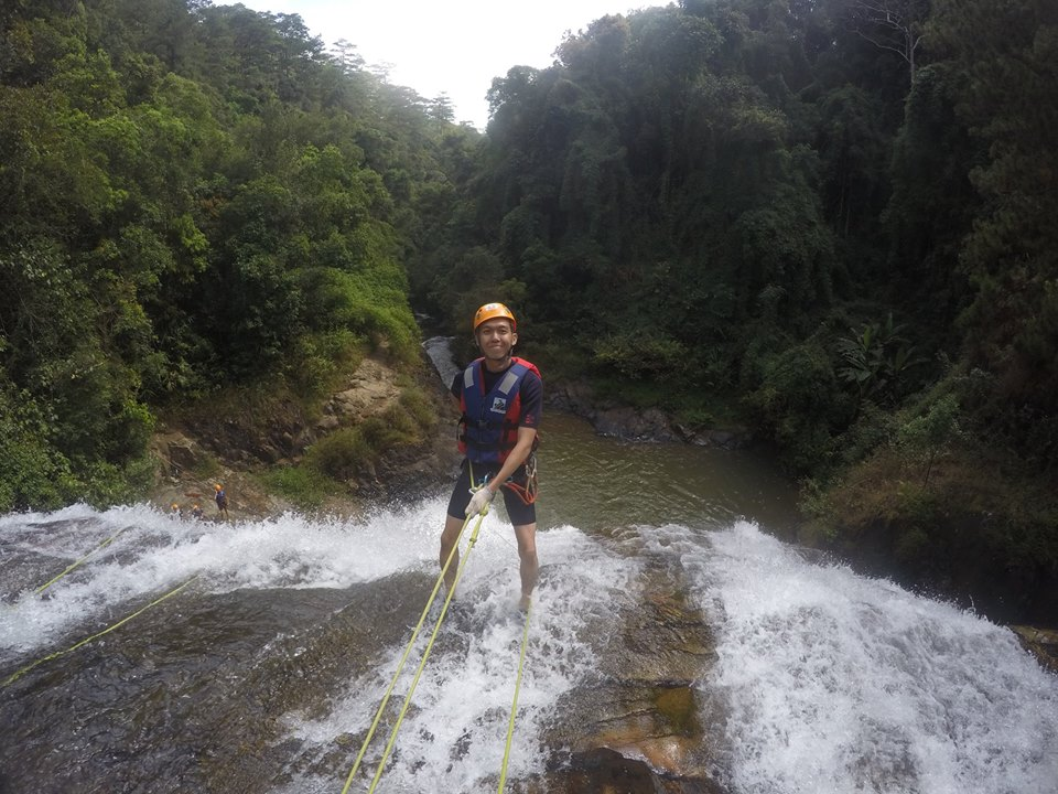 100m zip-lining on the crazy canyoning tour