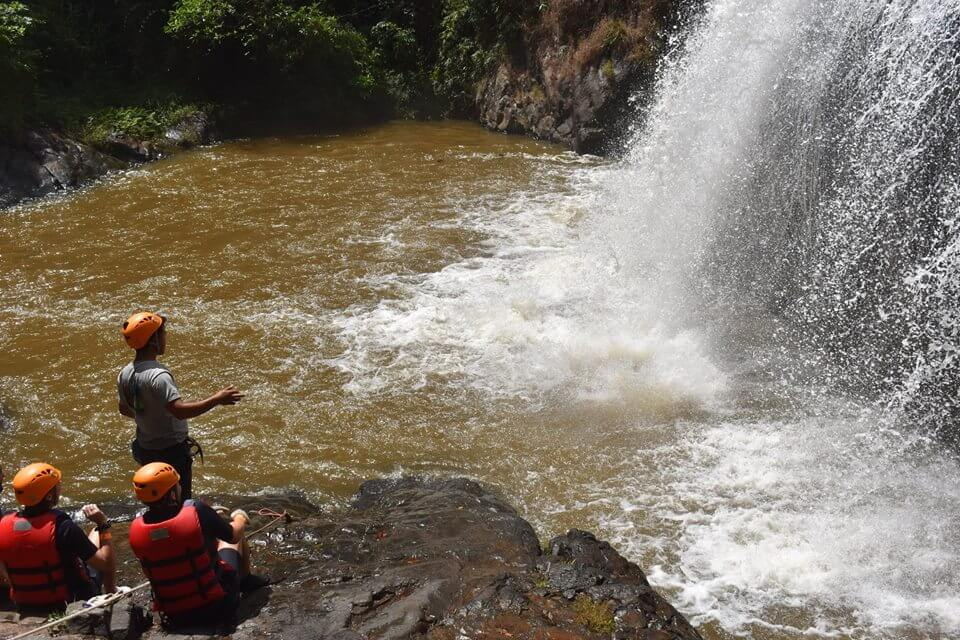Dalat canyoning always brings a strong attraction