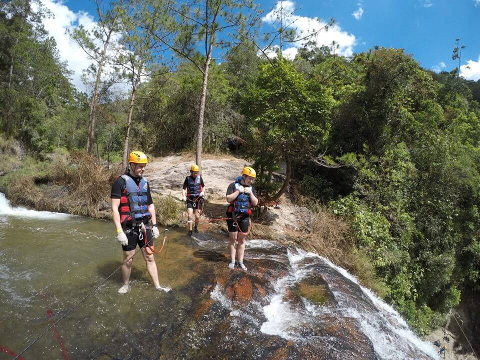 We encountered many difficulties when participating in Canyoning Dalat