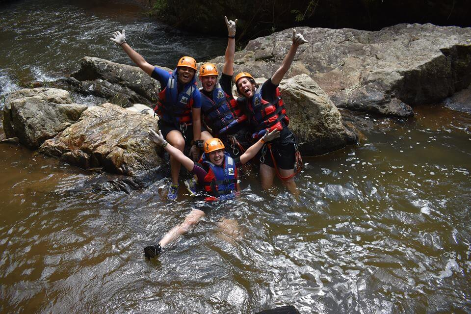 Young people, once experience Canyoning Dalat