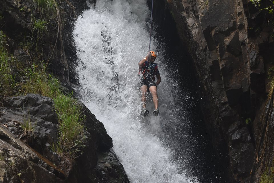 The canyoning - Journey down the cliff down