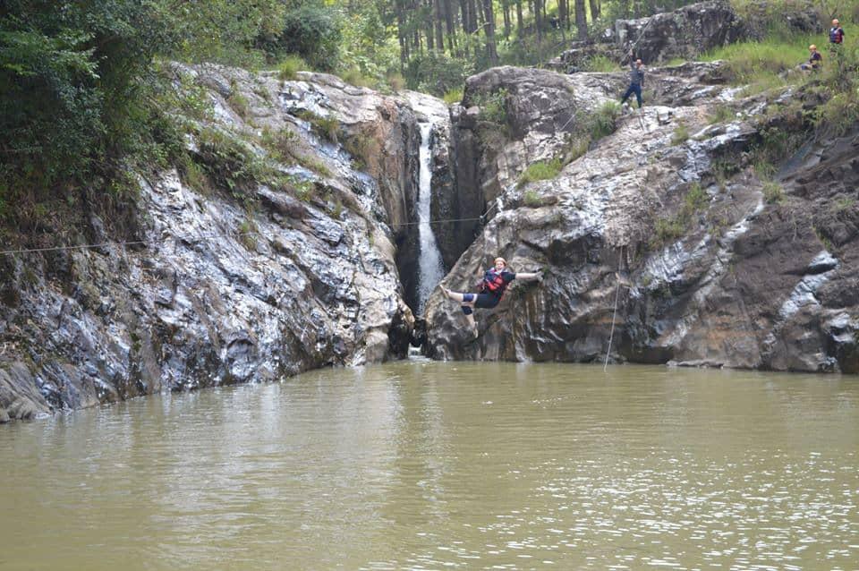 Dalat Canyoning Zipline with Dalat Adventure Tours