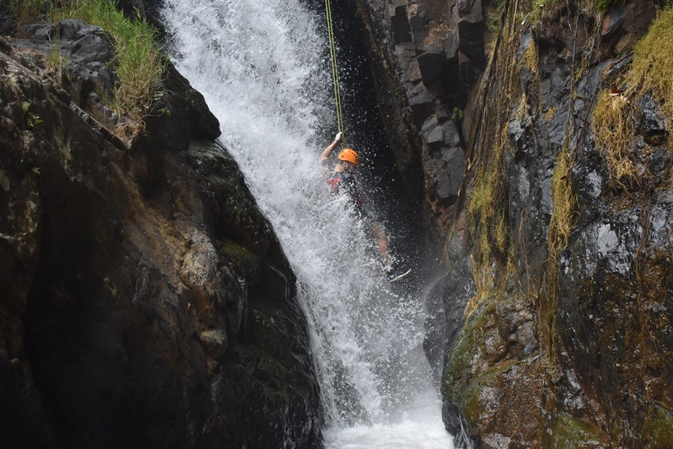 High cliffs-where visitors show their courage in Canyoning
