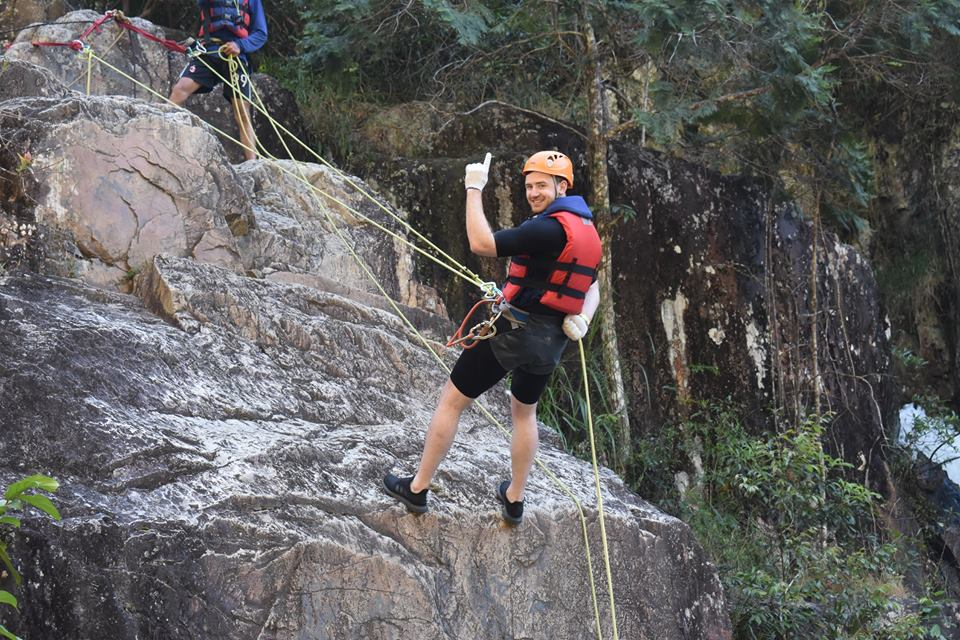 Save the wonderful moment when crossing the canyoning Dalat