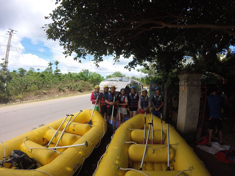 Some equipment for white water rafting Dalat