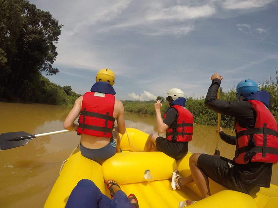 The boat rafting in the Da Don River (Da Lat)