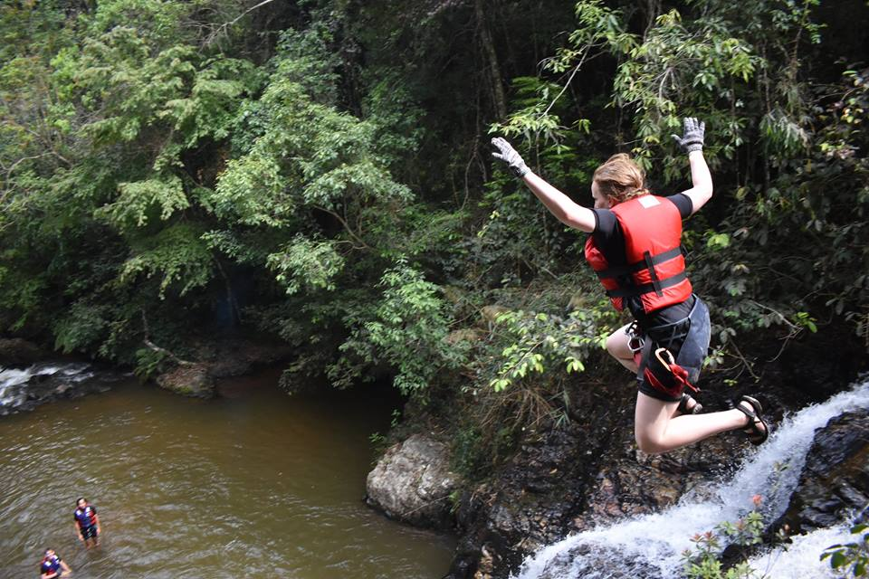 The games in Dalat Canyoning