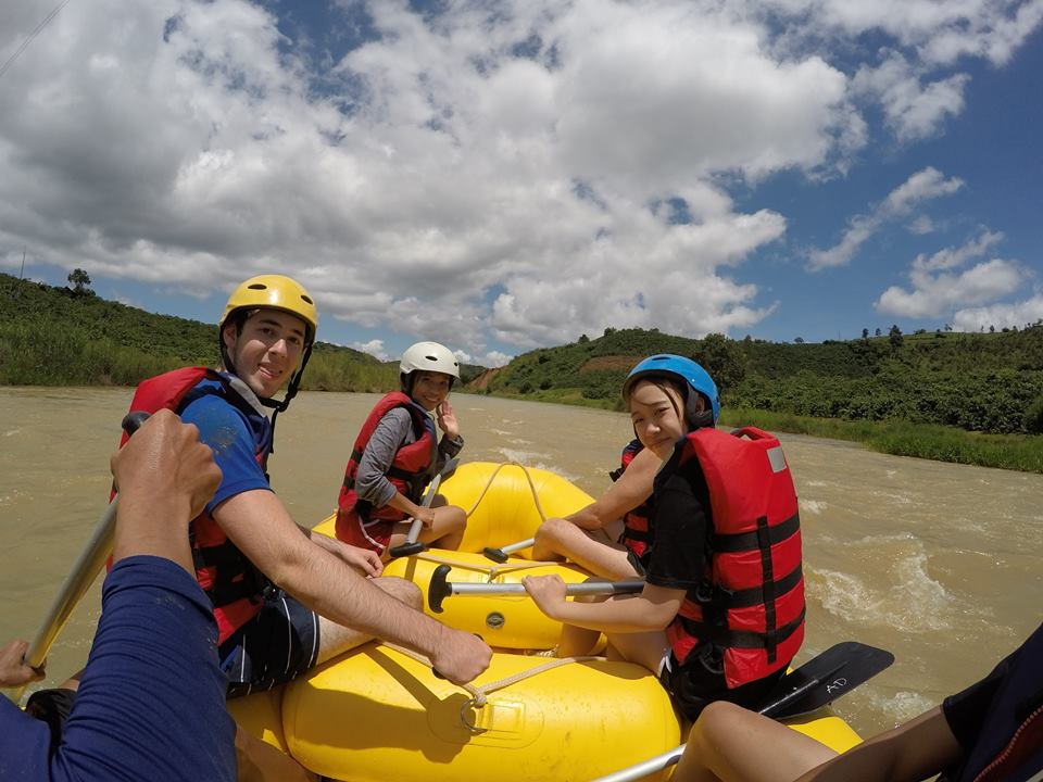 White water rafters bring comfort